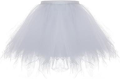 ZEWOO Mujer Adultos Mini Falda de Ballet Skirt Princesas Tutú de ...