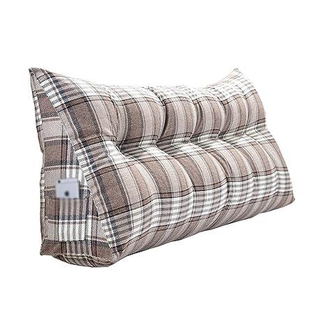 Cojines de triángulo de lino de tela cojín de cama de liner ...