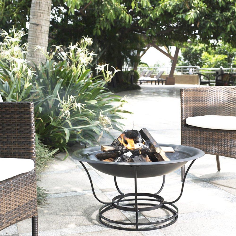 amazon com crosley furniture buckner outdoor fire pit with steel