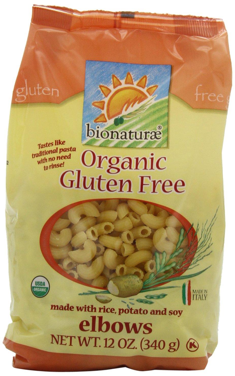 Amazon Com Bionaturae Organic Elbow Pasta Gluten Free 12 Ounce Bags Pack Of 12 Italian Pasta Grocery Gourmet Food