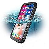SPORTLINK Coque Étanche pour iPhone X, iPhone X Waterproof Case, Certifiée IPX8 Imperméable Anti-Choc Anti-Poussière et Anti-Neige Housse Etui pour Apple iPhone X 2017 (Noir)