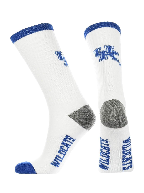 TCK Kentucky Wildcats Socks Basic Crew White Socks