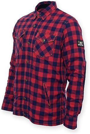 Bores Lumberjack, chaquetas de camisa, Dupont TM Kevlar, resistente a rasguños, impermeable, Rojo negro, cuadriculado, 7 x l: Amazon.es: Coche y moto