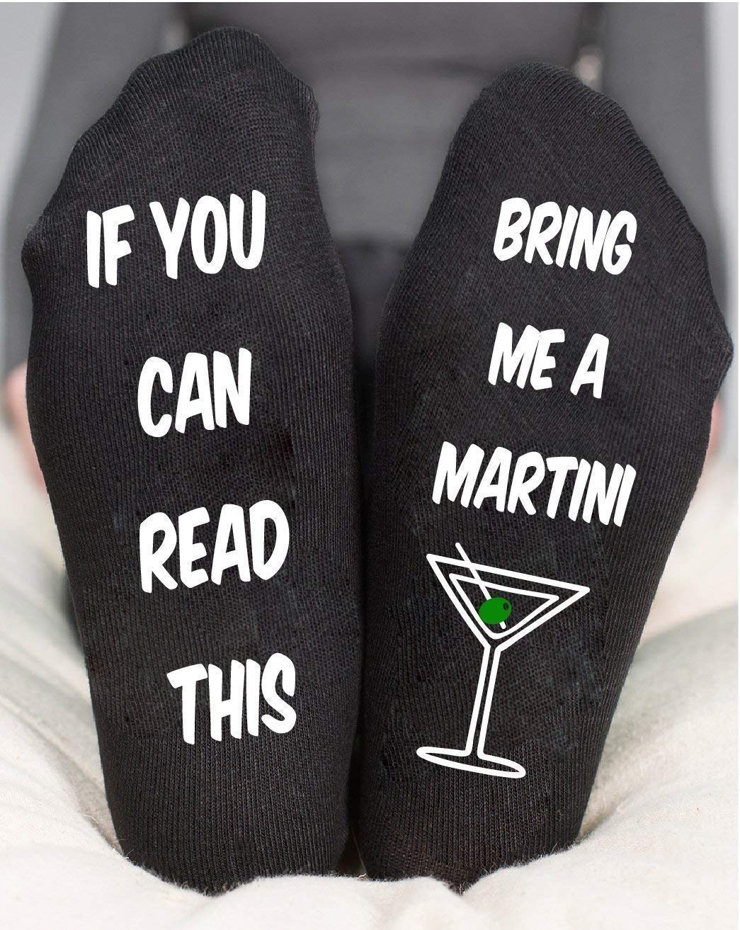 If You Can Read This Martini Socks Funny Birthday Gifts