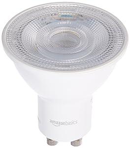 AmazonBasics 50 Watt Equivalent, Daylight, Dimmable, Gu10 LED Light Bulb | 6-Pack