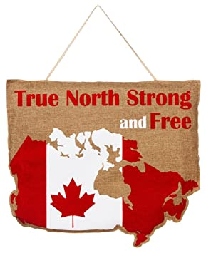 EverGreen True North solide et gratuit du Canada en toile de jute ...
