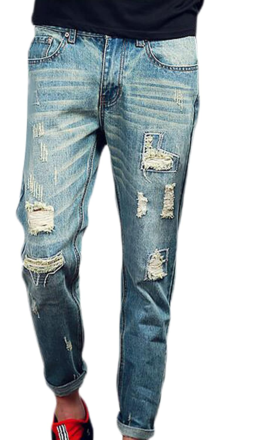 513520dc35 well-wreapped LTYY Men's Relaxed Fit Straight Leg Casual Jean - url ...