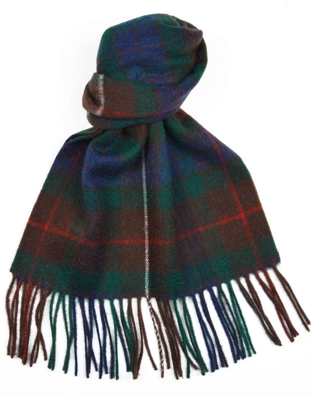 Lambswool Scottish Clan Scarf Fraser Hunting Modern Tartan