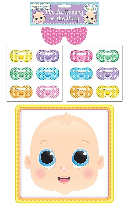 Juego para Baby Shower, ponle el chupete al bebé: Amazon.es ...