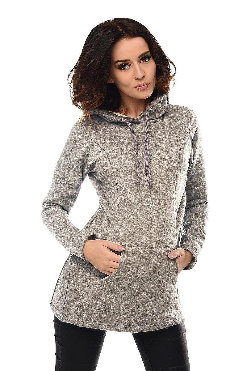 Purpless Damen Schwangerschaft 2in1 Langarm Stillpullover Kapuzenpullover Sweatshirt Stillen Krankenpflege B9050