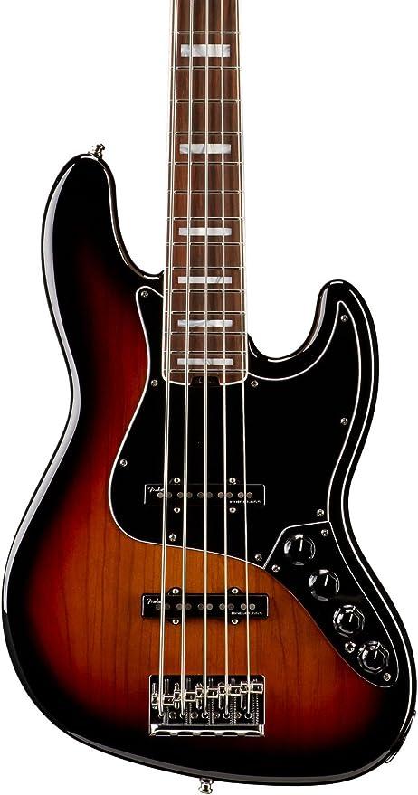Fender 0197100700 American Elite Jazz Bass V guitarra eléctrica de madera de palisandro diapasón de 3
