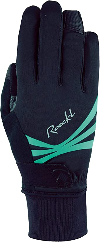 6 Roeckl Wilora Damen Winter Fahrrad Handschuhe schwarz//t/ürkis 2021 Gr/ö/ße