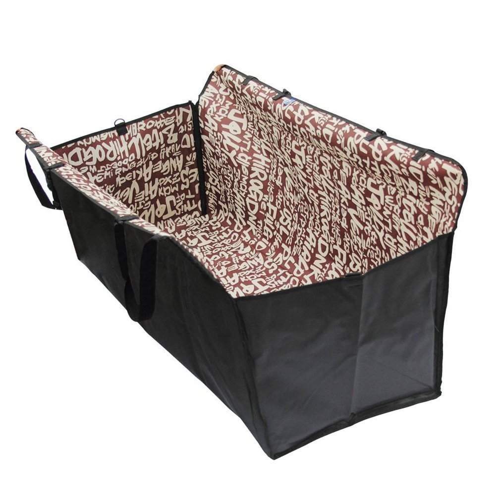 Enzhe Pet Design Incantevole Doppio Strato Impermeabile Pet Dog Cat Sicurezza Sicurezza Amaca di Viaggio Car Seat coprisedet Mat Coperta (Marronee)