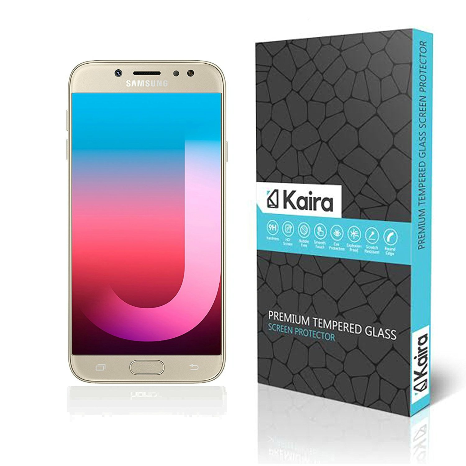 Kaira Samsung Galaxy J7 Pro Screen Protector Premium Oil Resistant Coated Tempered Glass Screen Protector