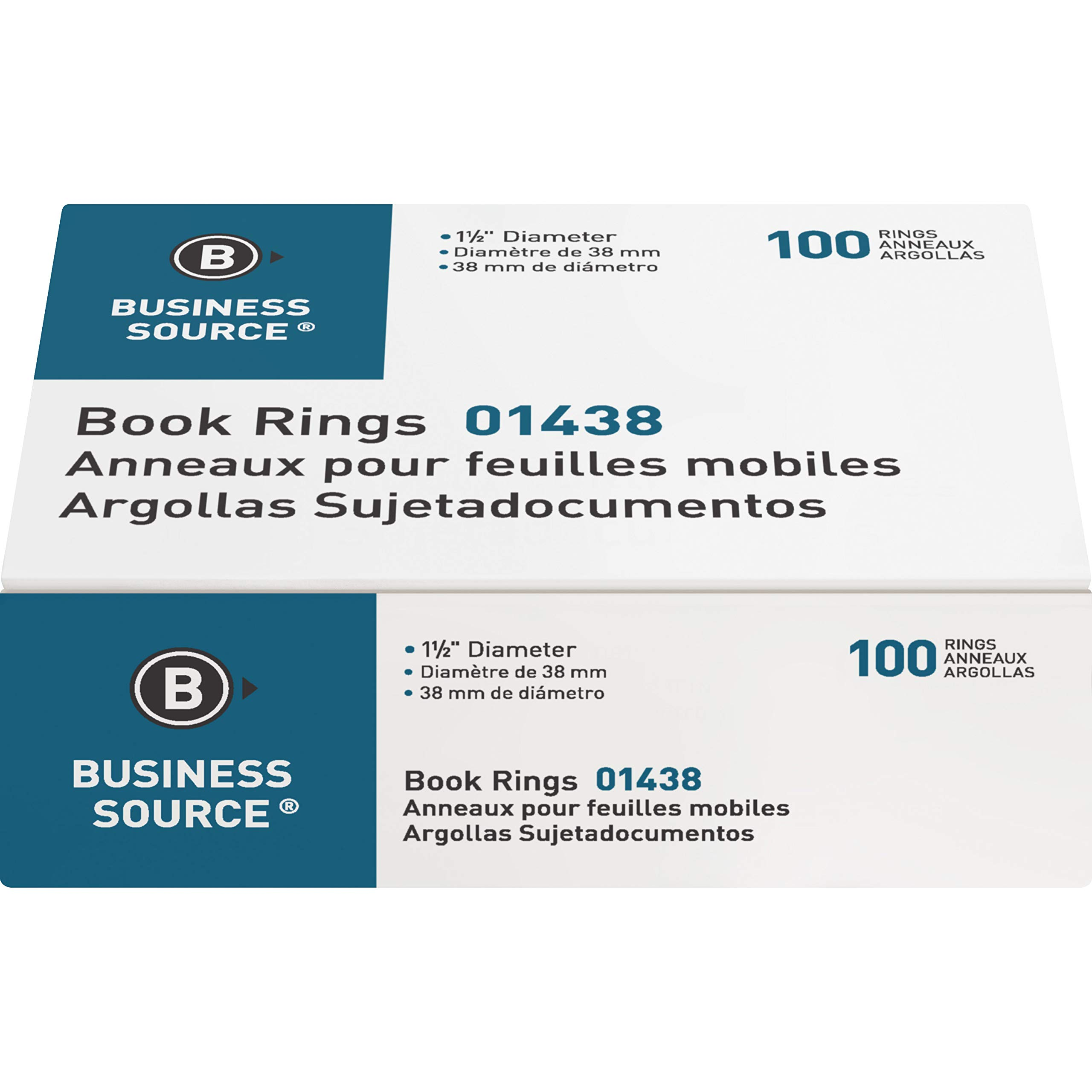 Business Source Standard Book Rings by Business Source