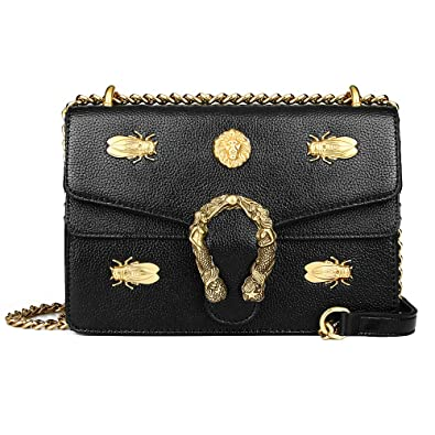 4648160c7031 Beatfull Fashion Leather Crossbody Bag for Women Desinger Shoulder bags  with Chain Messager Purse Lion Insect