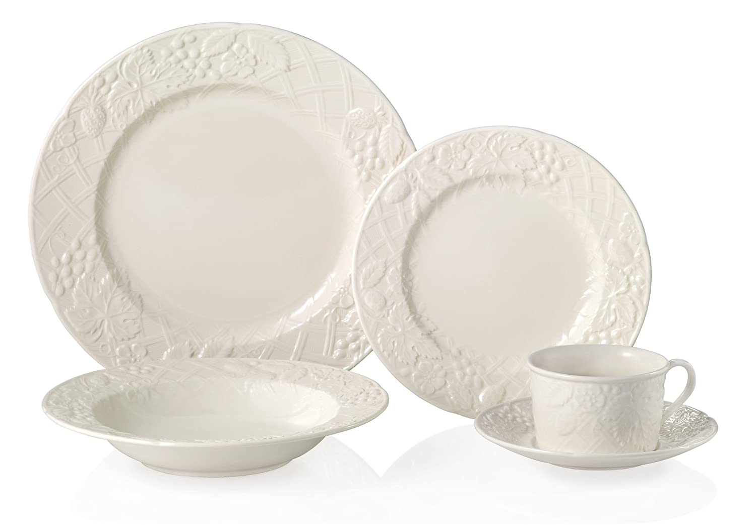 amazoncom mikasa english countryside 40piece dinnerware set service for 8 kitchen u0026 dining