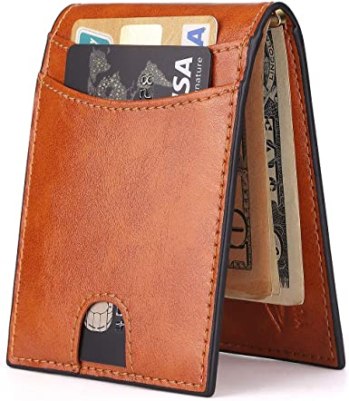 Mens Wallet Custom Photo Wallets Genuine Leather Wallet with Zip Easy Carry Wallet Personalized Wallet Men