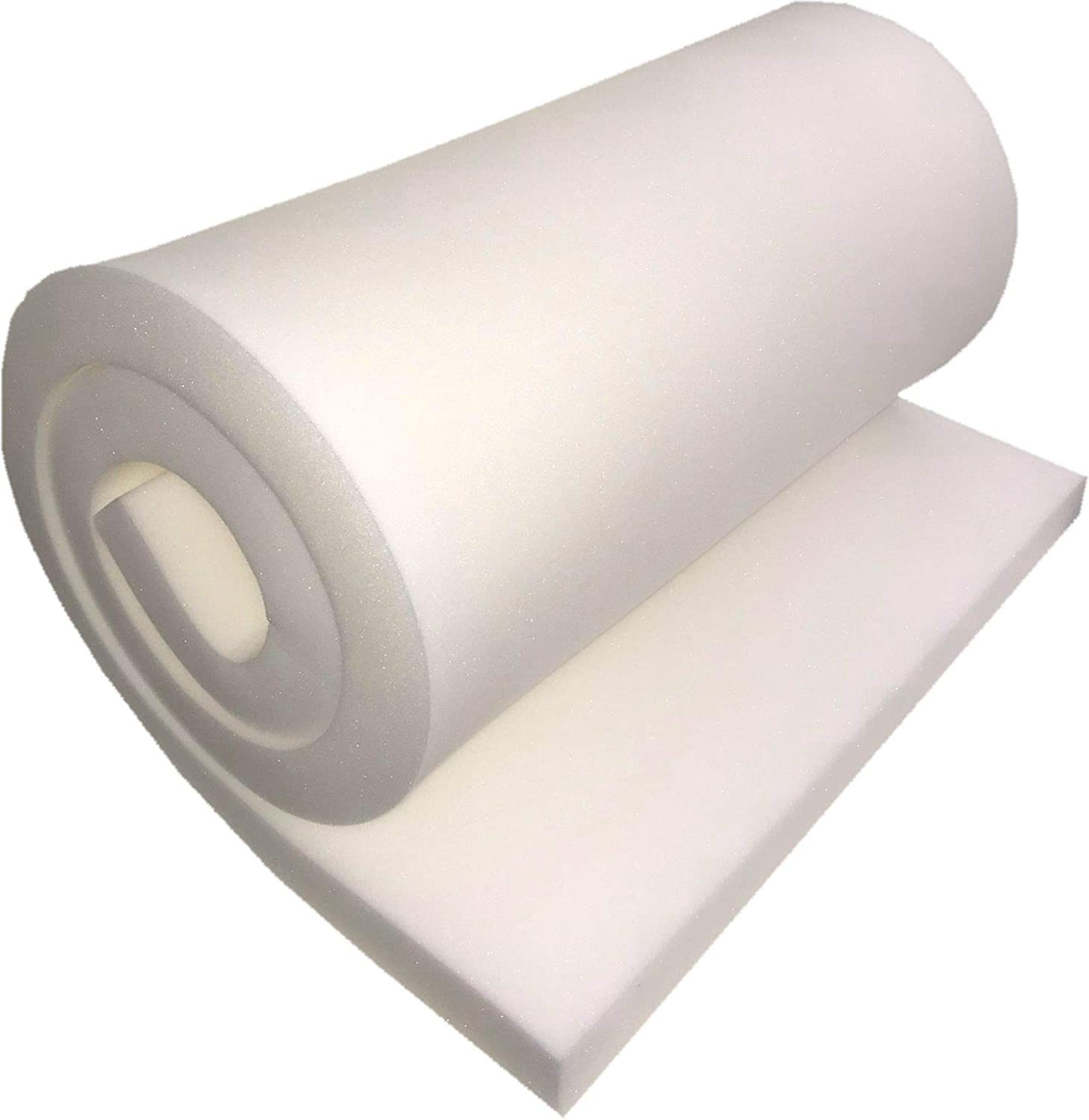 FoamTouch Upholstery Foam Cushion High Density 1 Height x 36 Width x 96 Length Made in USA