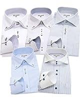 ビジネスマンサポート 長袖ワイシャツ5枚セット 豊富な7サイズ