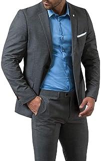 3dbfba5da82f Avail London Mens Black Suit Jacket Muscle Fit Stretch Notch Lapel ...