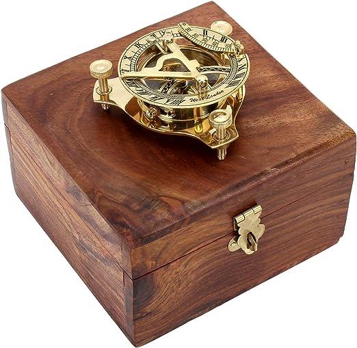 Zap Impex ® Reloj de latón de latón, compás Reloj de latón ...