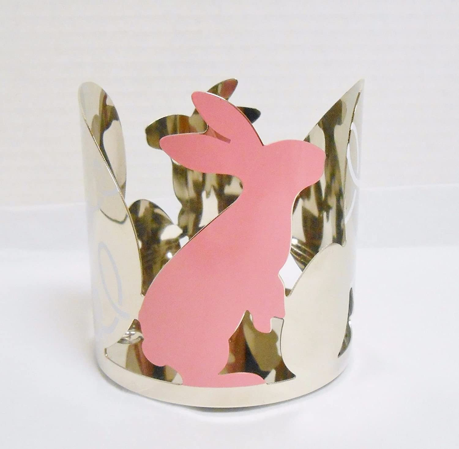 Yankee Candle Chrome Easter Springs Bunny Large Jar Candle or Tumbler Holder