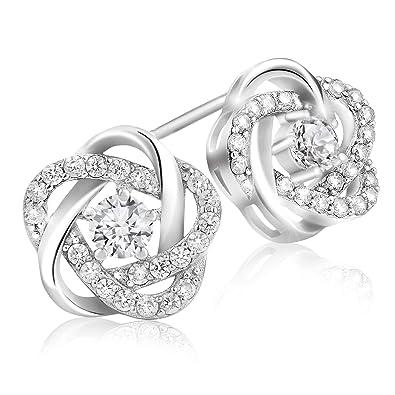 Earrings Jewelry & Watches Brilliant Flowers Paved Cubic Zircon Stud Earrings Women Girl Party Jewelry Gl