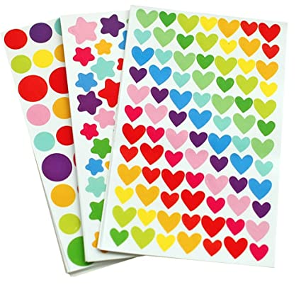 Amazon.com: Yansanido 18 Sheets Colorful Decorative Colored Dots ...
