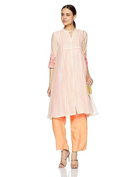 c5e54306ba1 Rangriti Women s Anarkali Kurta (RMMSUMMER B1255 Off-White xxx-large)
