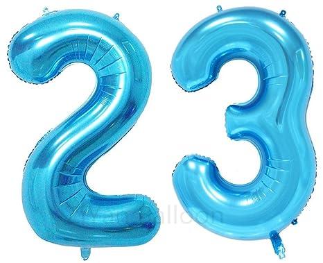 birthday number 23 blue