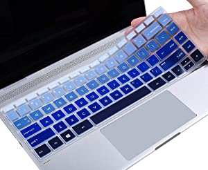 CASEBUY Keyboard Cover Compatible HP Pavilion x360 14M-BA 14M-CD 14-BF 14-cm Series 14M-BA011DX 14M-BA013DX 14M-BA015DX 14-BF040WM 14M-CD0001DX 14M-CD0003DX 14 inch Protective Skin, Gradual Blue