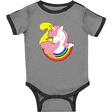 inktastic 2nd Birthday Unicorn Rainbow Girls Toddler T-Shirt