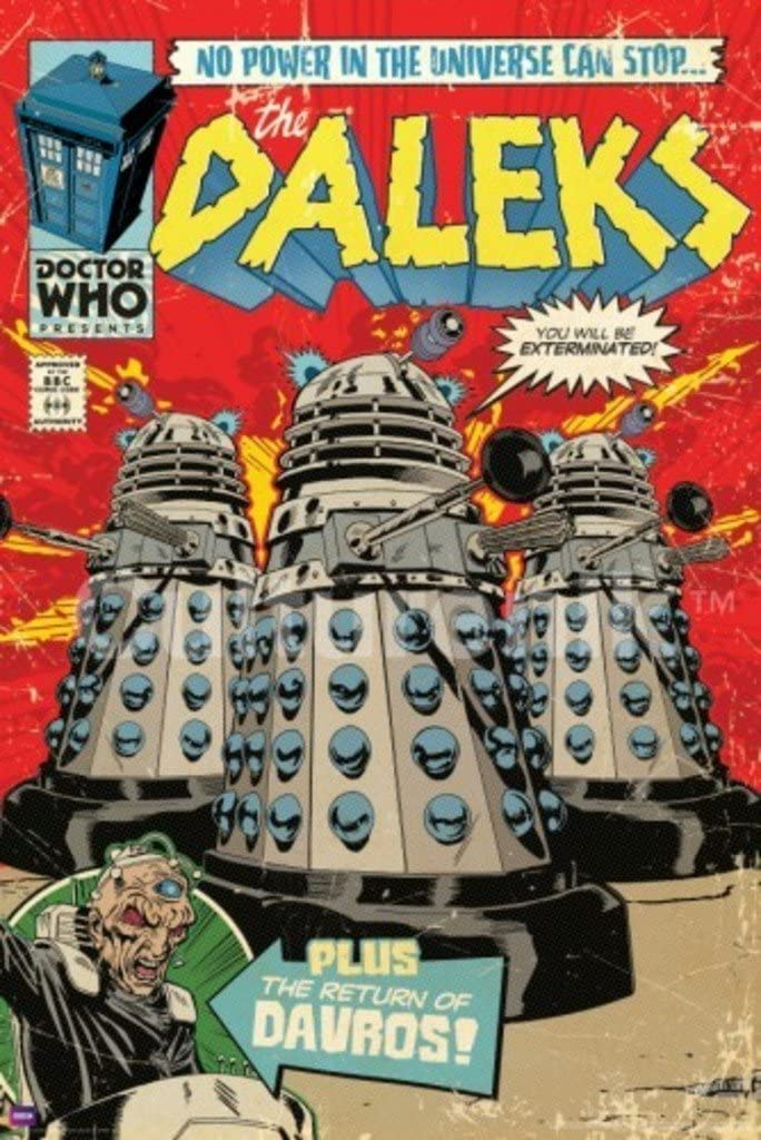 Culturenik Doctor Who Dalek Comic Book Cool Wall Decor Art Print Poster 24x36