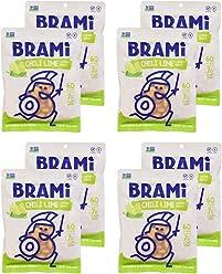 BRAMI Lupini Bean Snack, Chili Lime | Plant Protein, Vegan, Gluten-Free, Low Calorie, Zero Net Carb, Keto, Lightly Pickled, Mediterranean Legume | Pack of 8, 5.3 oz (150g)