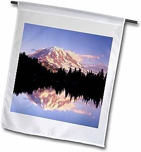 Danita Delimont - Mountain Lakes - Mount Rainier NP, reflection in Eunice Lake - US48 JWI1376 - Jamie and Judy Wild - 18 x 27 inch Garden Flag (fl_95984_2)