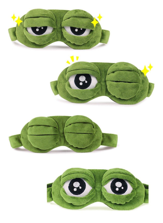 Verde bllomsem fluff dormire divertente novità cartone animato rana