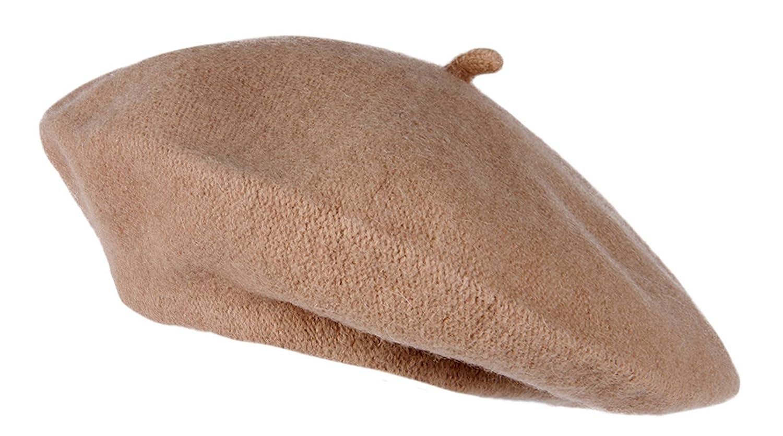 TopHeadwear French Wool Beret, Camel TOP HEADWEAR