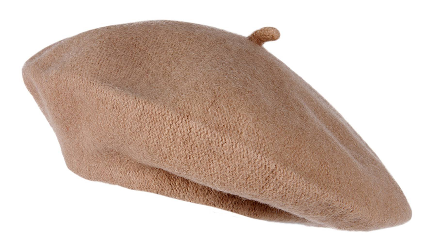 TOP HEADWEAR Topheadwear Wool French Beret, Camel