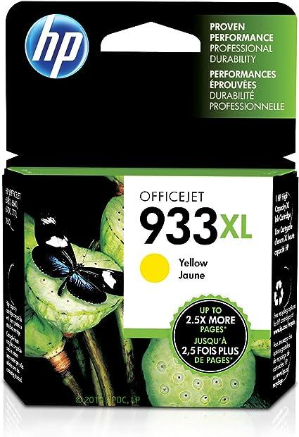 HP 933XL Yellow - Cartucho de Tinta para impresoras (Amarillo ...