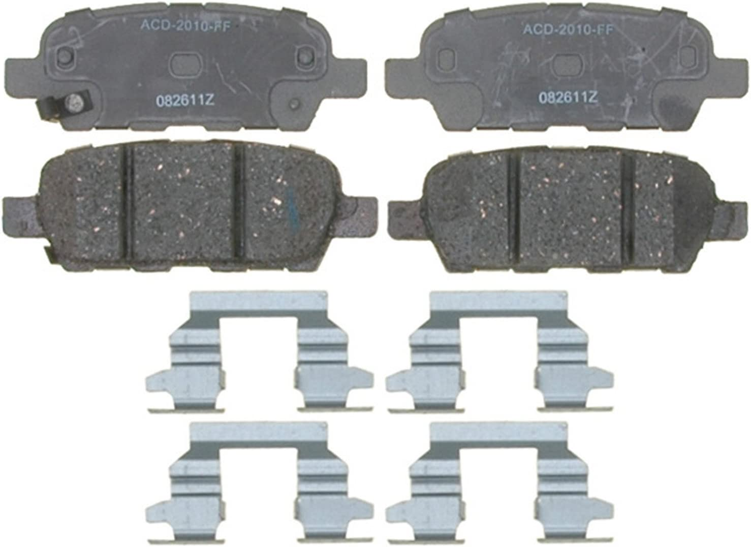 ACDelco 14D1338CH Advantage Ceramic Front Disc Brake Pad Set with Hardware