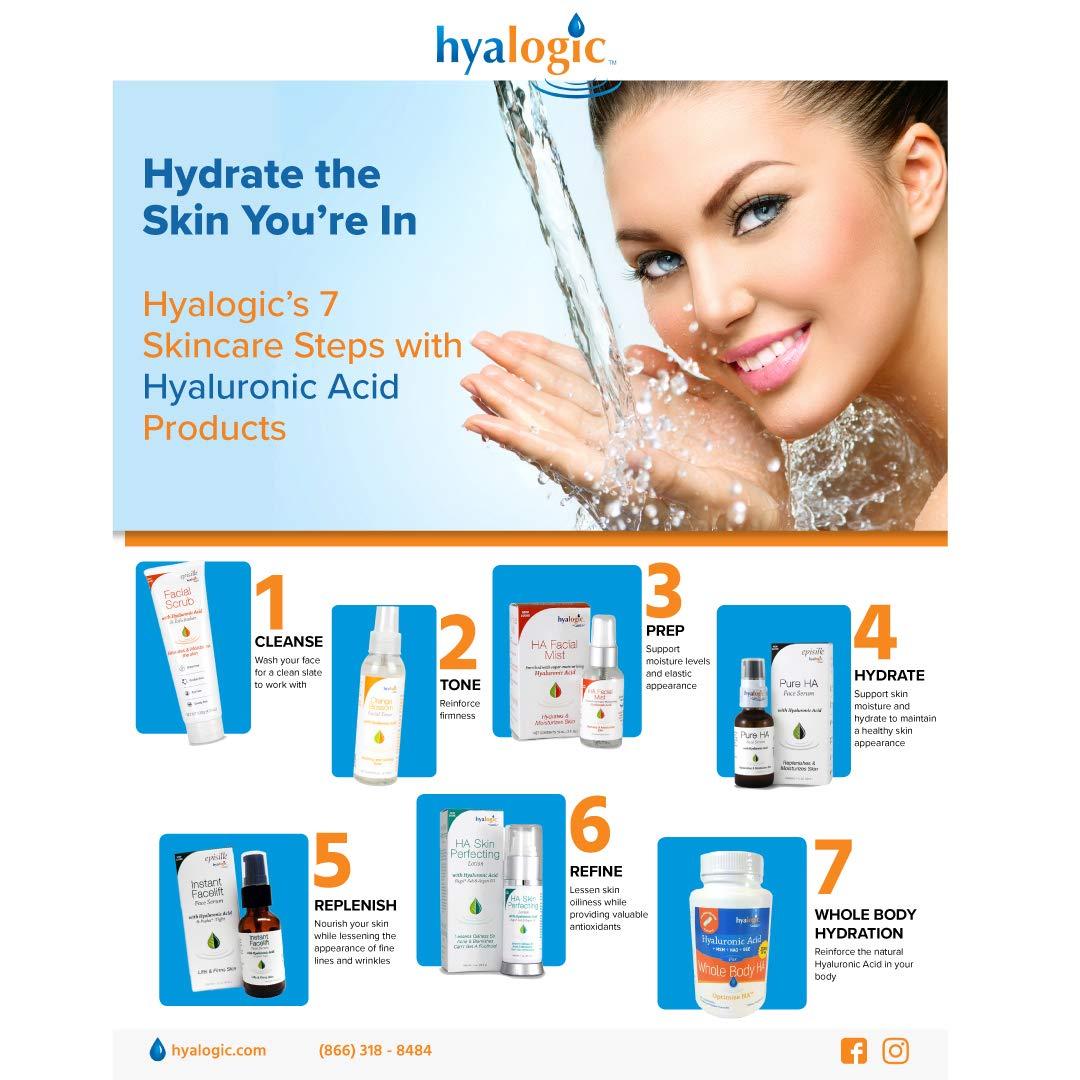 Hyaluronic Acid Facial Mist-Moisturizer Spray, Hydrating Primer & Makeup Setting Spray - 2 oz. by Hyalogic
