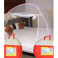 Athena Creations Double Bed Foldable Mosquito Net (Pink)