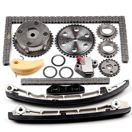 ECCPP L3K9-12-614 Timing Chain Kit Tensioner Guide Rail Crank Gear Cam Gear