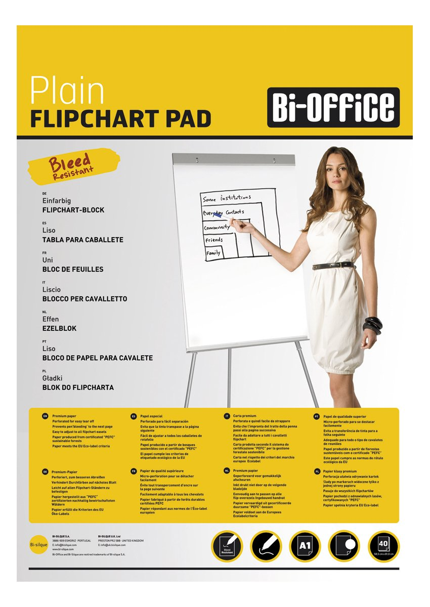 Bisilque Bi-Silque A1 Value 20 Sheets Flipchart Pad (Pack Of 5)