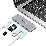 UTASU USB Type C ハブ 5in1 USB C ハブ HUB ウルトラスリムドッキングステーションPD充電 USB 3.0ポート*2 SD/Micro SD カードリーダー マイクロ タイプC 変換アダプター MacBook Pro/ChromeBook/2018 iPad Pro/Microsoft Surface Go対応 (グレー)
