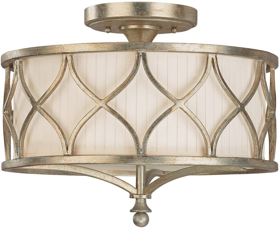 Capital Lighting 4003wg 487 Semi Flush Mount With Frosted Glass Diffuser Shades Winter Gold Finish Close To Ceiling Light Fixtures Amazon Com