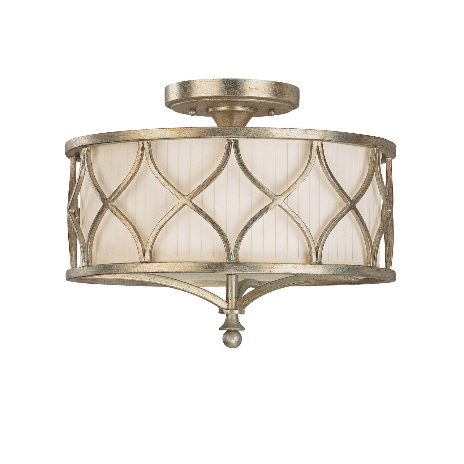 Capital Lighting 4003WG 487 Semi Flush Mount with Frosted Glass