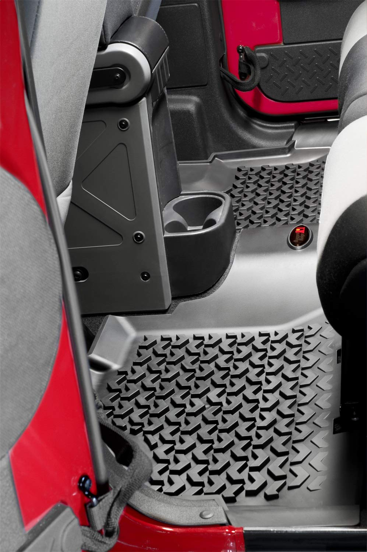 Pack of 2 Rugged Ridge 12920.01 All-Terrain Black Front Floor Liner