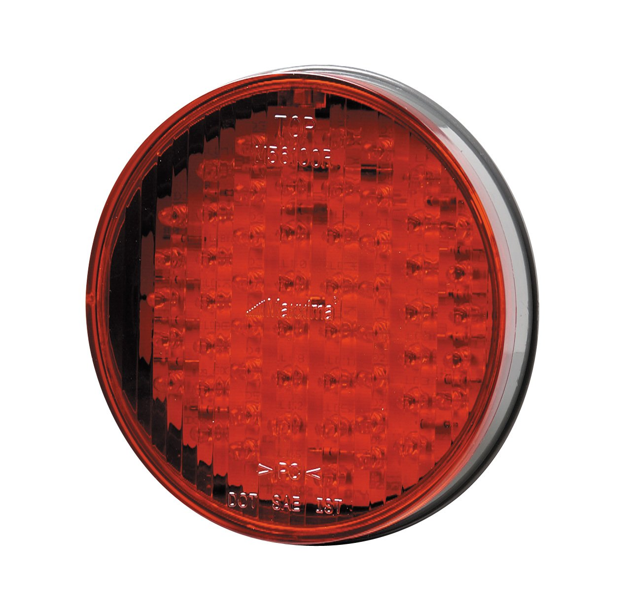 Maxxima M56100R 56 LED Red 4'' Round Stop/Tail/Turn Light